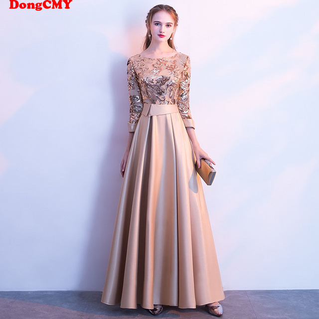 DongCMY Long Formal Sequined Prom Dresses Party New Plus Size Robe De Soiree Embroidered Gowns 1