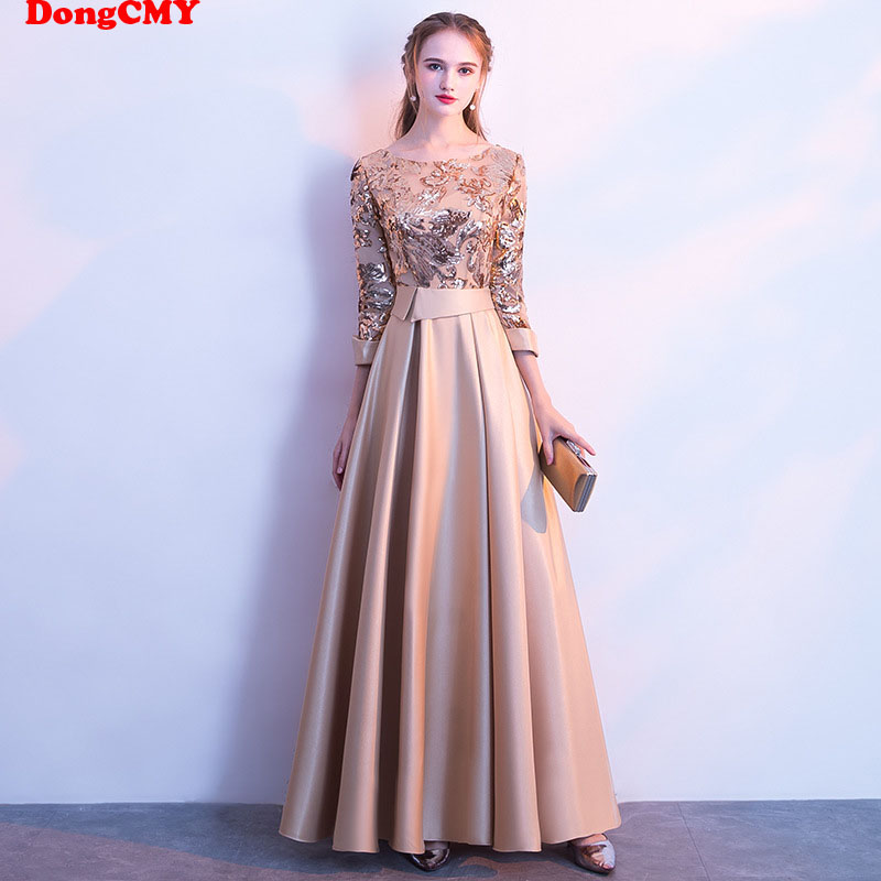 DongCMY Long Formal Sequined Prom Dresses Party New Plus Size Robe De Soiree Embroidered Gowns