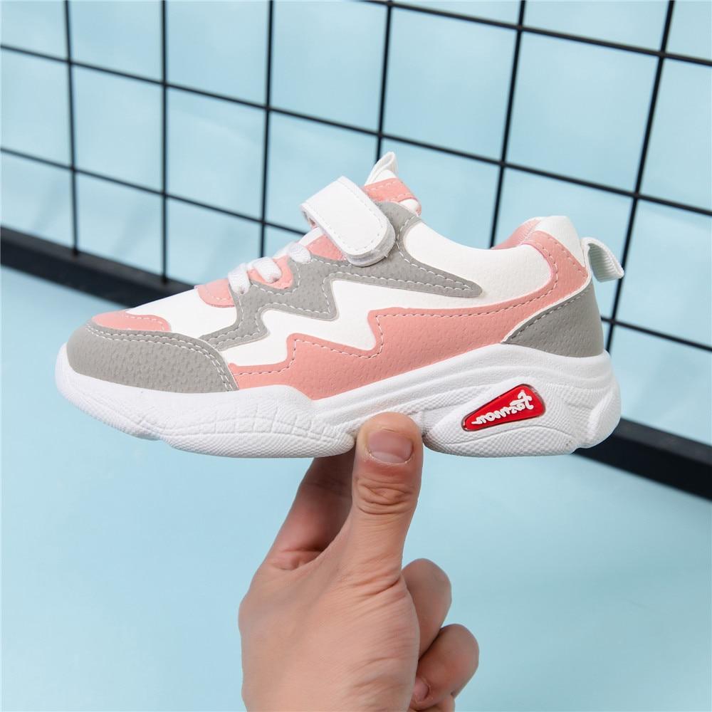 Новые модные кроссовки для девочек 3 9 лет; удобная детская спортивная обувь из искусственной кожи для мальчиков; детская повседневная обувь Кроссовки      АлиЭкспресс
