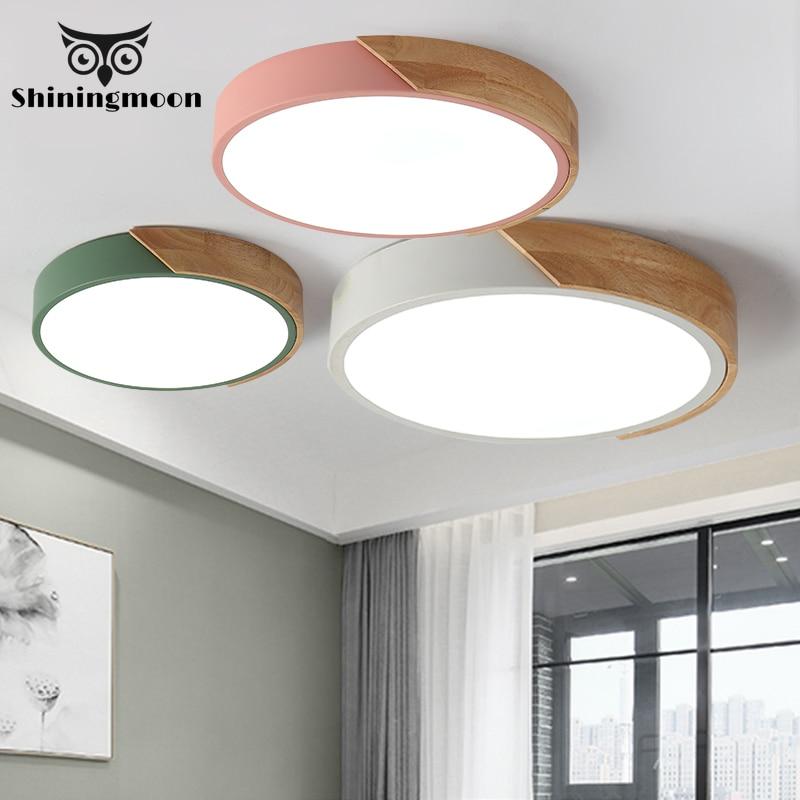 Moderne Acryl Decke Lichter Nordic Minimalismus Holz Cafe Küche Decke Lampe Esszimmer Decke Licht Glanz Zimmer Beleuchtung