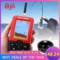 Smart Portatile Fish Finder di Profondità con 100M Wireless Sonar Sensor Ecoscandaglio LCD Fishfinder per il Lago di Pesca in Mare Acqua Salata