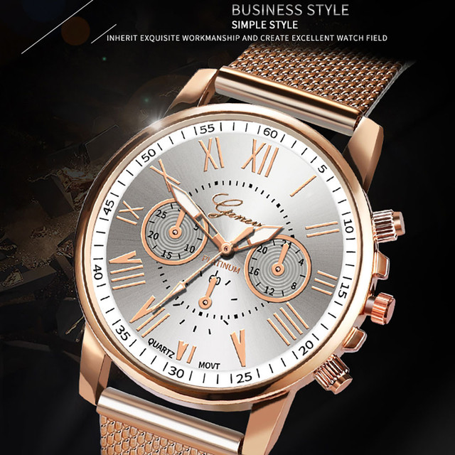Stainless Steel Strap Watches For Women Luxury 2020 Rose Gold Dial Quartz Wrist Watch For Ladies Bracelet Reloj Mujer Relogio 5