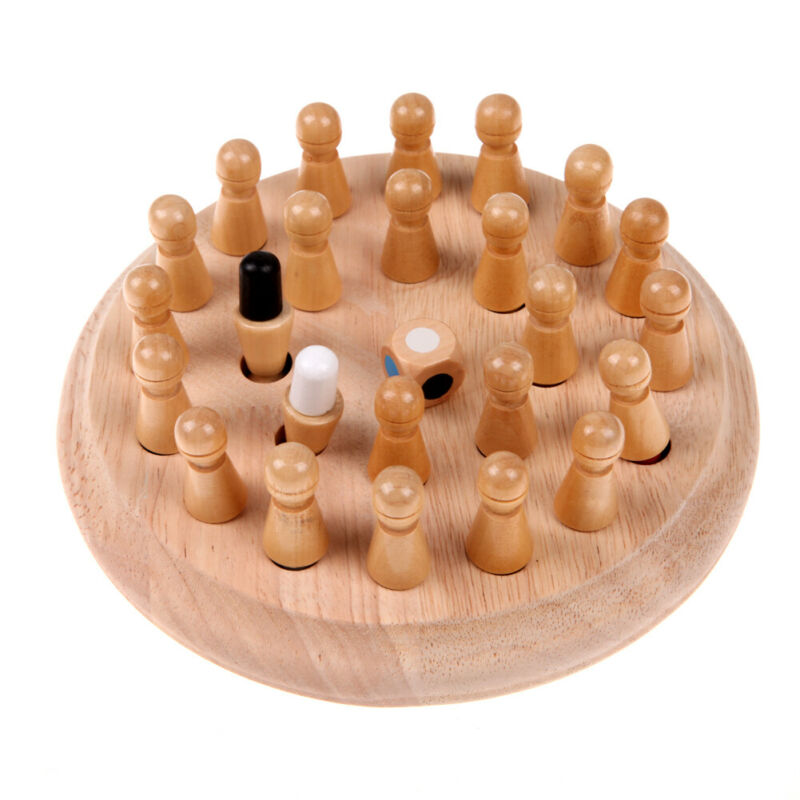 Kids Wooden Memory Match Stick Chess Game Fun Block Board Game Educational Color Cognitive Ability Toy For Children 6