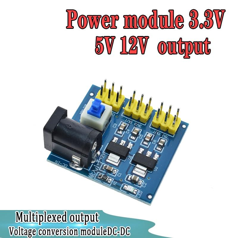 WAVGAT 3.3V 5V 12V Multi Output Voltage Conversion DC-DC 12V to 3.3V 5V 12V Power Module