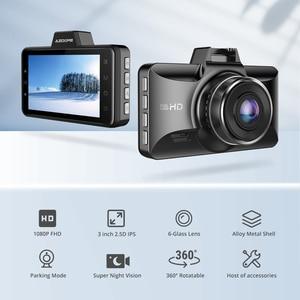 Image 3 - AZDOME Dash kamera FHD 1080P gece görüş, 3 inç IPS ekran Dash arabalar için, ön panel kamerası DVR park monitörü