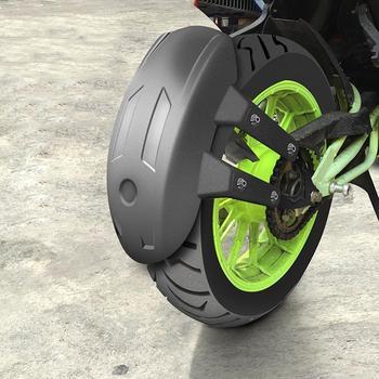 Uniwersalny czarny plastikowy tył motocykla koło do błotnika osłona rozbryzgowa osłona tylnego koła osłona rozbryzgowa błotnik ze wspornikiem tanie i dobre opinie CN (pochodzenie) 5 7inch 14 5cm 0 860kg