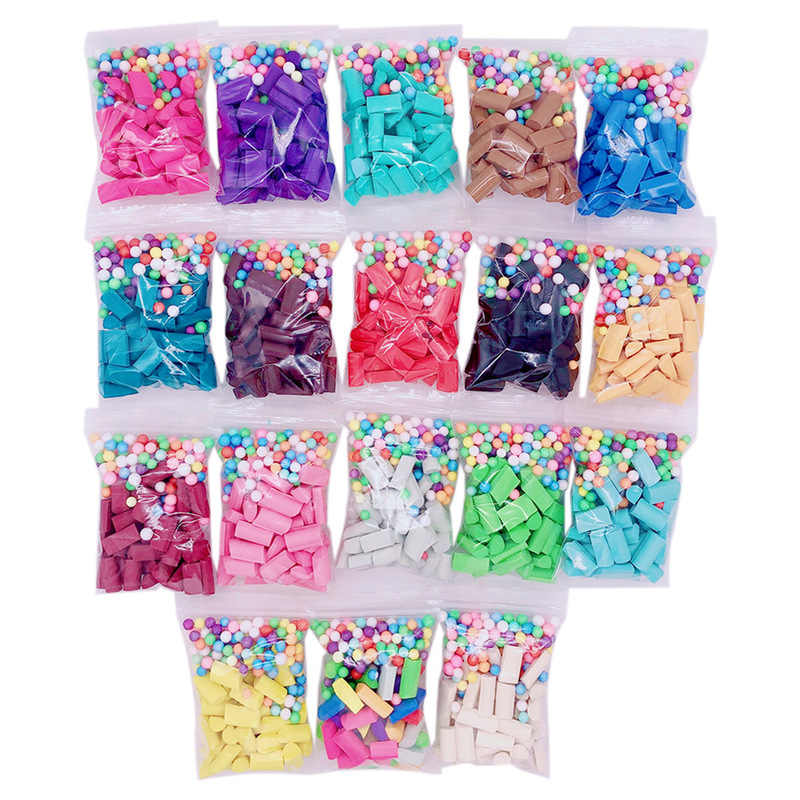 1 saco diy lodo enchimento lama lodo decoração slime esponja acessórios de brinquedo tira slime suprimentos enchimento aliviar o estresse presente brinquedo para crianças