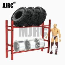 AJRC – support de rangement pour pneus, échelle 1/10 1.9 2.2, pour voiture radiocommandée, chenille Traxxas TRX-4 TRX-6 Axial SCX10 D90 D110 TF2 YOKOMO