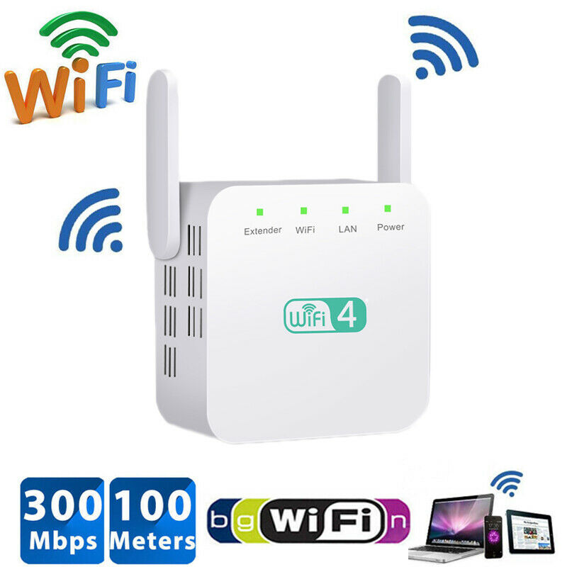 WiFi Range Extender Super Booster 300Mbps 2,4G Boost Speed Wireless Router Hause