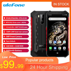 Ulefone Armor X5 ip68 Rugged Smartphone Android 9.0 Shockproof Telephone Superbattery Cell Phone 3+32G Unlocked Mobile Phone