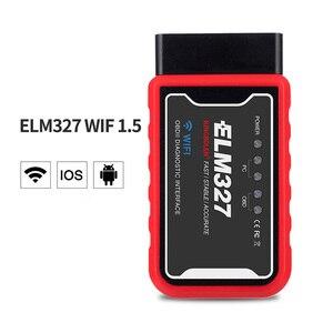 Image 1 - ELM327 V1.5 Elm327 Obd2 סורק OBD רכב אבחון כלי קוד קורא OBD II Wifi Bluetooth סורק Automotivo עבור אנדרואיד/PC/IOS