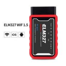 ELM327 V1.5 Elm327 skaner Obd2 OBD narzędzie diagnostyczne do samochodów czytnik kodów OBD II Wifi skaner Bluetooth Automotivo dla androida/PC/IOS