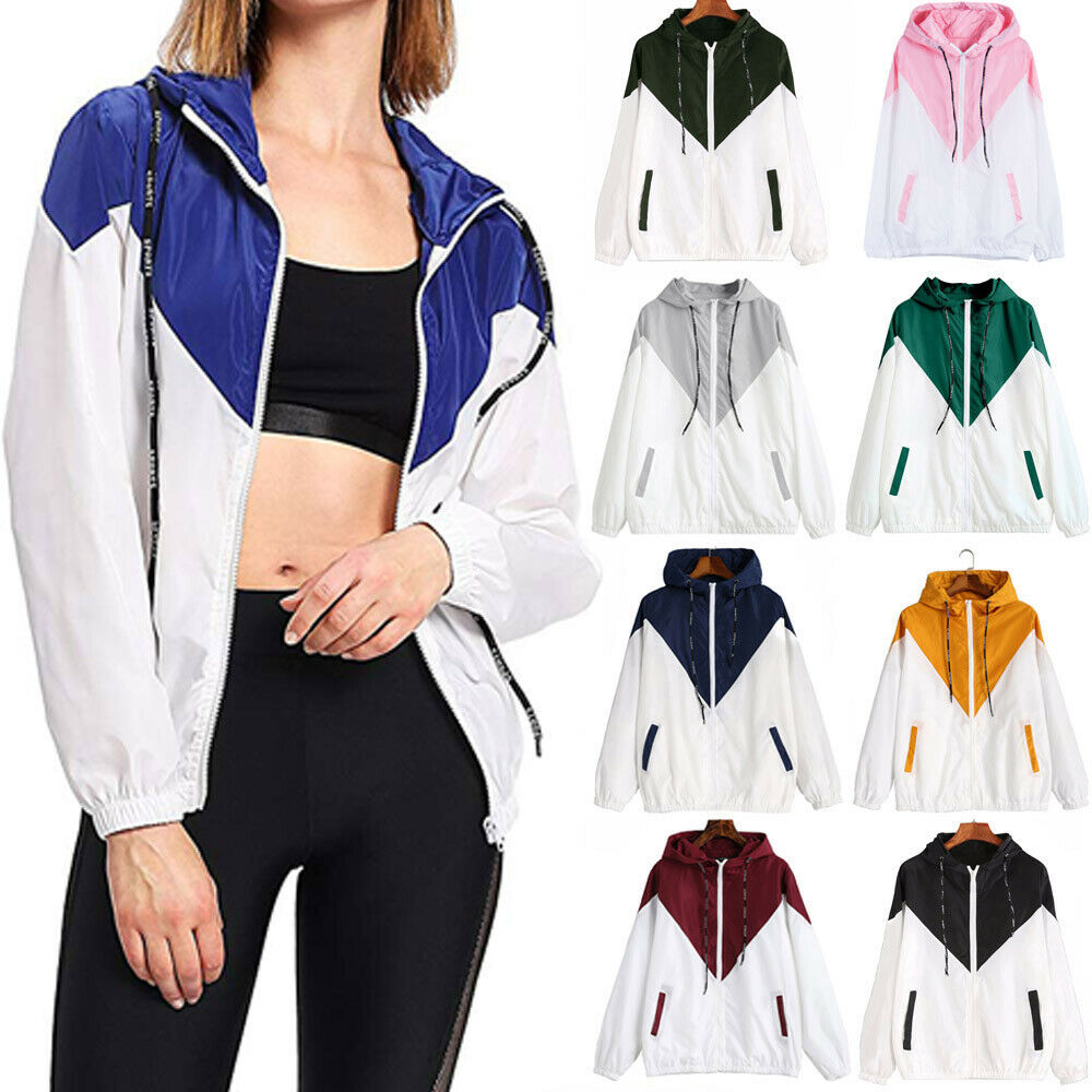 Women Jacket Hoodie Sweatshirt Sports Pullover Outdoor Running Jacket Outwear Sport Coat