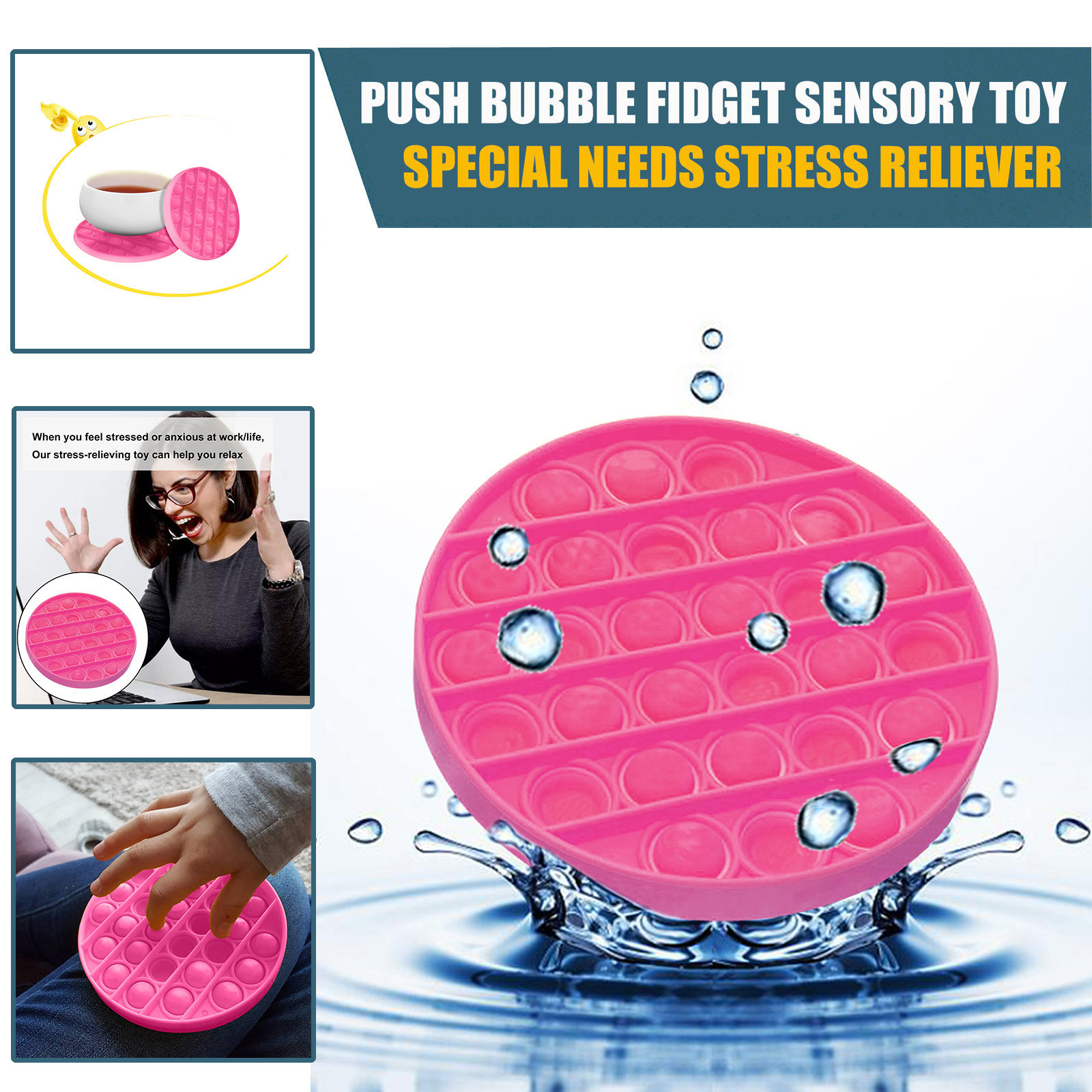 Figet Toys Squeeze-Toy Needs-Stress Push Bubble POPS Squishy Reliever Special Adult Children img5