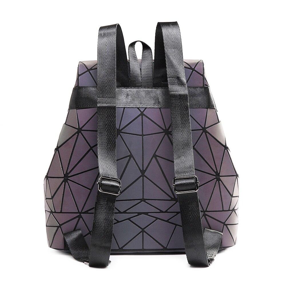 Cute Geometric Luminous Backpack For Womens