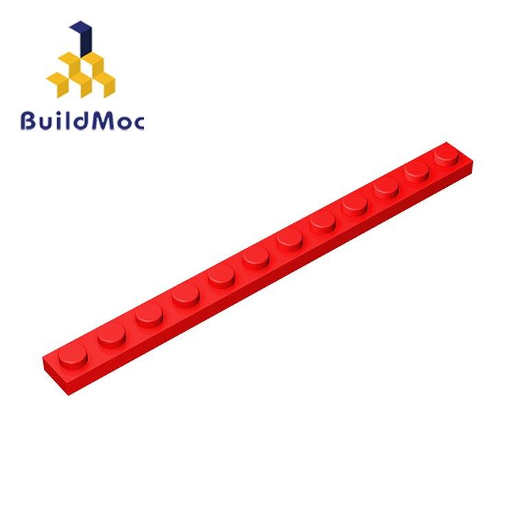 BuildMOC 60479 пластина 1x12 для деталей строительных блоков Сделай Сам логотип развивающие технические детали игрушки