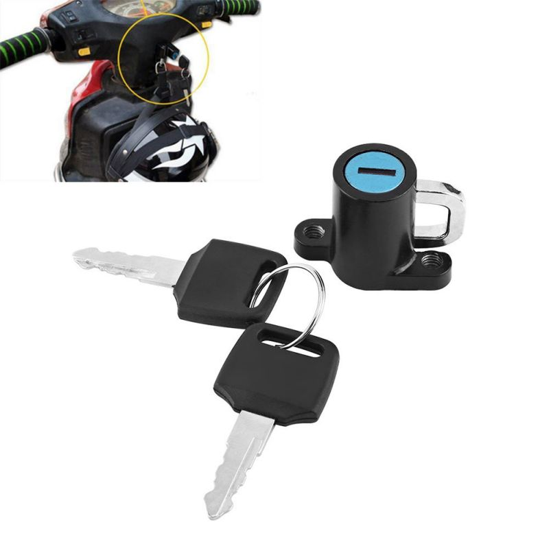 Universal Motorbike Bike Helmet Lock With 2 Keys Set Motorcycle Helmet Lock Car-Styling Hanging Hook Helmet Lock Hook