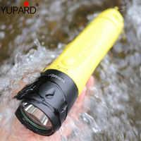 Профессиональный Дайвинг IP68 L2 светодиодный подводный свет встроенный аккумулятор водонепроницаемый Дайвинг 80 м фонарик зарядка фонарик