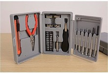 цена на 24 Sets of Combination Tools Multifunctional Household Hardware Toolbox Set Plastic Combination Tools Accessories  Hardware Case