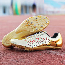 Track and Fields Shoes Professional Mens Womens Track Spikes Shoes Unisex Running Sport Shoes with Spikes Athletics Jump Hurdle