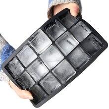 Черный Класс силиконовый 15-сетки куб Jumbo кубика льда силикона квадратный лоток плесень нетоксичный прочных Бар Паб винный ледяной блоки чай...