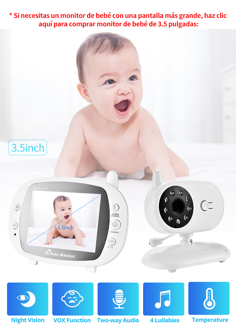 3 inch Baby Monitor With Security Night Vision Camera And a Voice Call For child Security 19