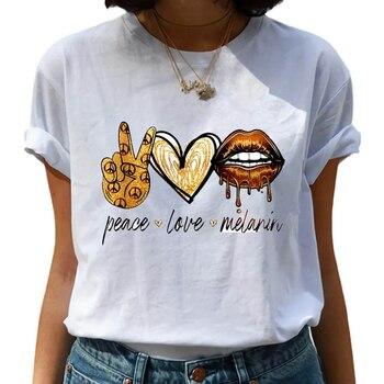 Love Lips T Shirt Women Vogue Summer Casual Tshirts Tees Harajuku Graphic Tops 2021 New Kawaii Female T-shirt Woman Clothing 1