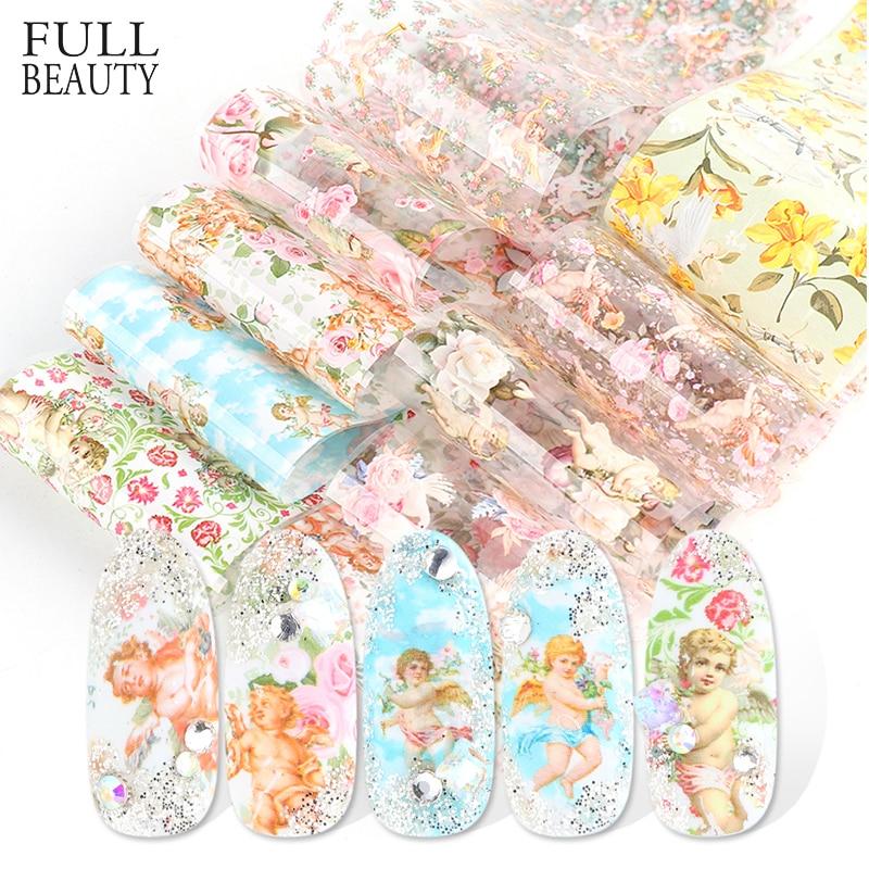 10 Uds. Adhesivas para decoración de uñas de pegatinas, Set de calcomanías para decoración de uñas con diseño de flores de Anglel CH3118