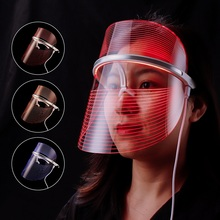 LED Light Therapy Facial Mask USB 3 Colors Skin Care Instrument Face Mask Rejuvenation Wrinkle Ance Removal Beauty Device