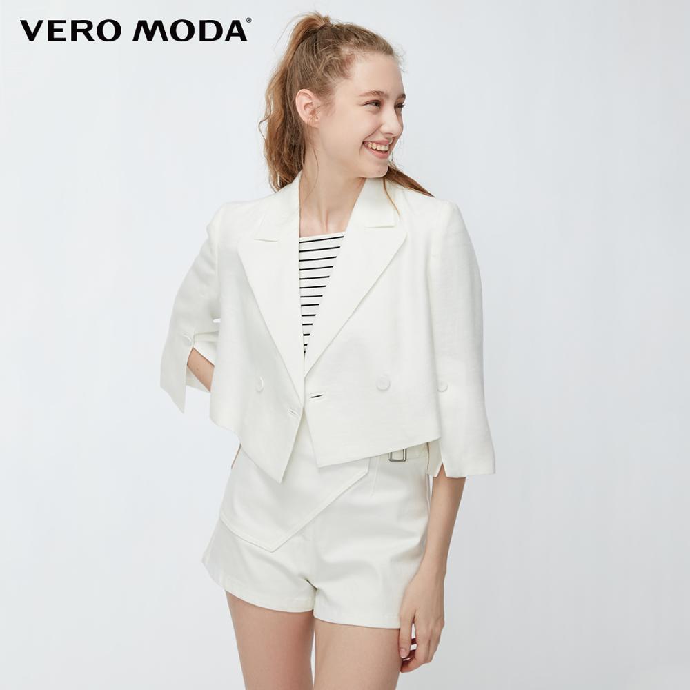 Vero Moda Women's Double-breasted Blazer Buttoned Short Blazer | 319208503