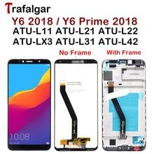 Wyświetlacz Trafalgar dla Huawei Y6 2018 wyświetlacz LCD ATU L31 L21 LX1 L42 ekran dotykowy dla Huawei Y6 Prime 2018 wyświetlacz z ramką