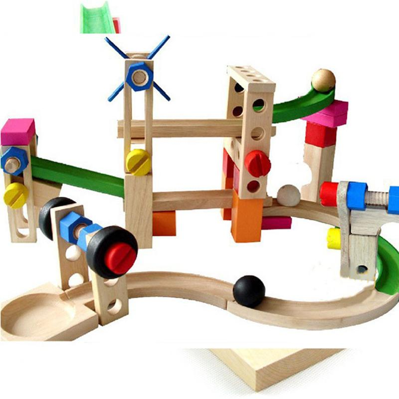 Wooden Toy Roller coaster Effective Educational Toy Coaster Toy RC Trains for Kids Toddlers Student