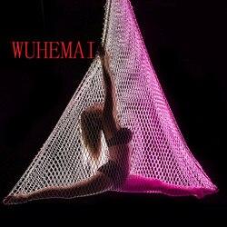 Nueva hamaca aérea para yoga red de pesca colgando red Columpio de red cuerda colgante neto de la cama yoga tela hamaca columpio cinturón aérea