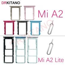 Для Xiaomi mi A2 держатель лотка для sim-карты mi cro SD слот для карты адаптер mi A2 для Xiaomi mi A2 Lite SIM лоток запасные части