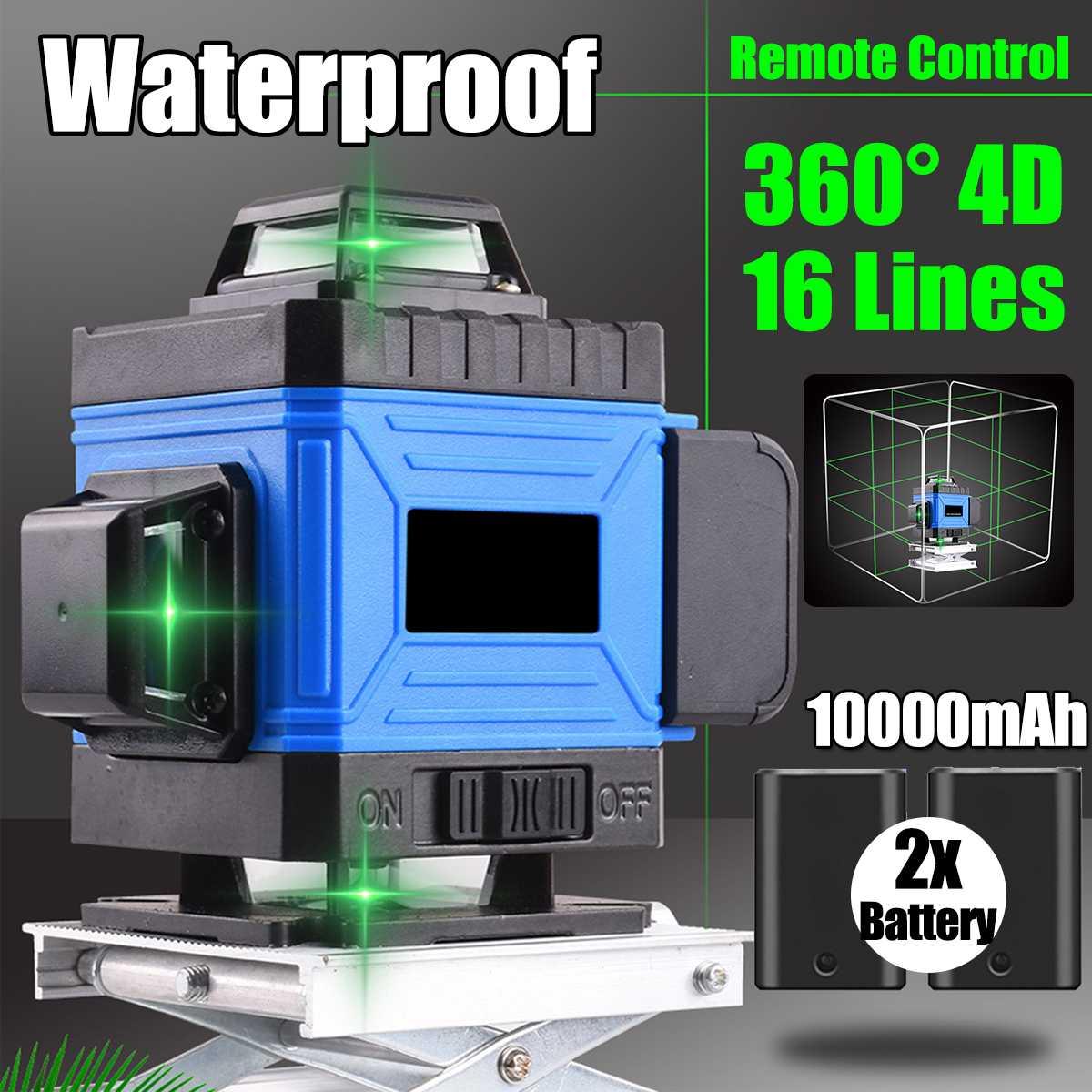 16 Lines 4D Laser Level Green Light Self-Leveling 360 Horizontal And Vertical Cross Super Powerful Green Beam Level Level