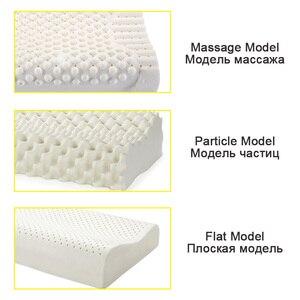 Image 5 - Ortopedik yastık doğal lateks yatak uyku ergonomik yumuşak servikal boyun koruyun masaj yastıkları ile yatak odası için yastık kılıfı