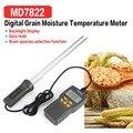 MD7822 цифровой измеритель влажности зерна анализатор температуры термометр влажности гигрометр Измеритель влажности воды