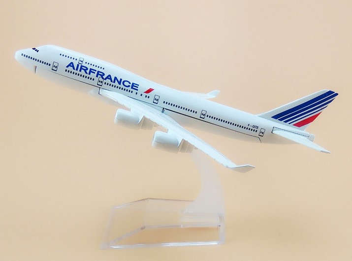 16cm Metal Air France Airlines Boeing 747 B747 400 F-GITB Airways Plane Model Aircraft Airplane Model w Stand image