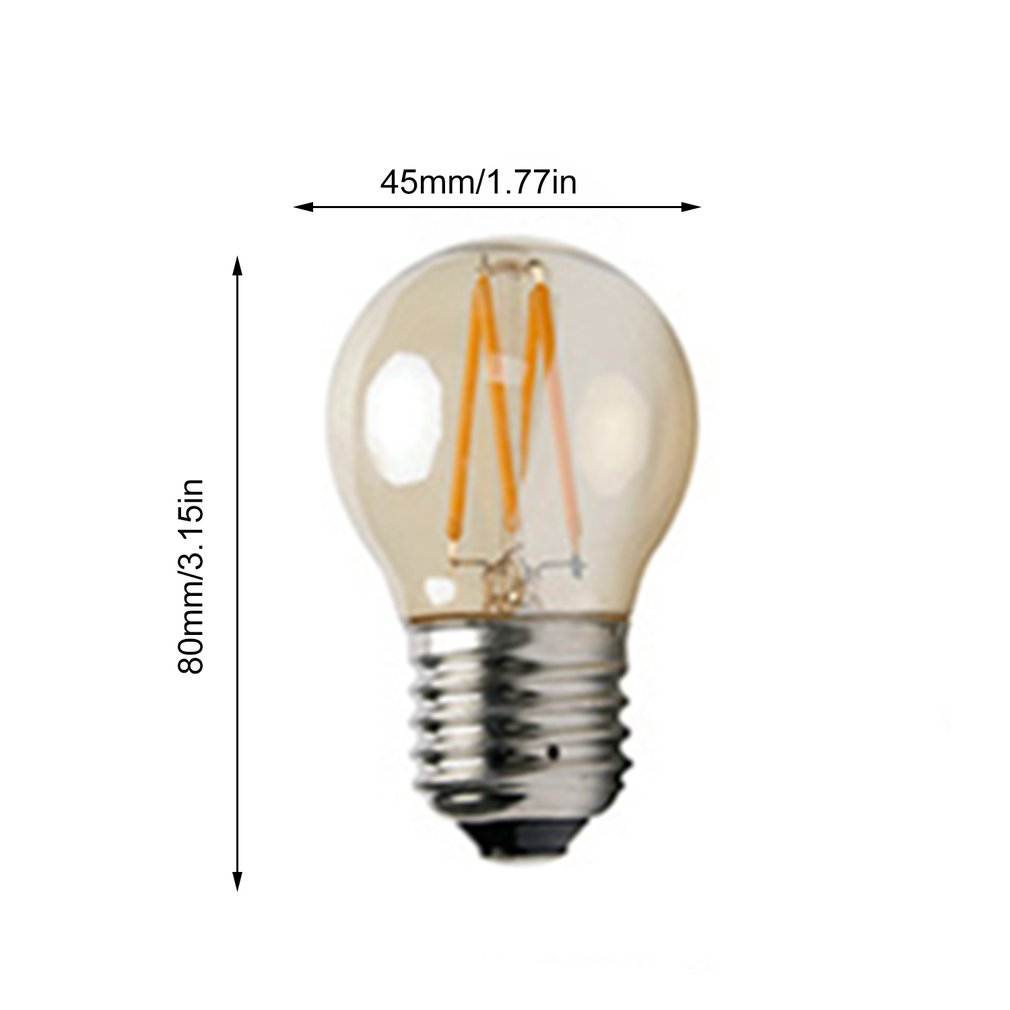 4W G45 E27 LED Light LED Bulb Retro Edison Clear Amber Cover LED Filament Antique Vintage Glass Lamp Tunable Light Free Shipping
