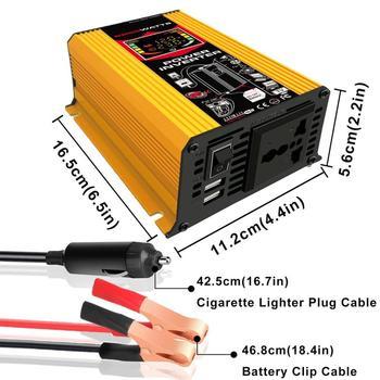6000W 12V to 220V/110V Smart Display Car Power Inverter Converter Adapter Dual USB Voltage Transformer Modified Sine Wave фото
