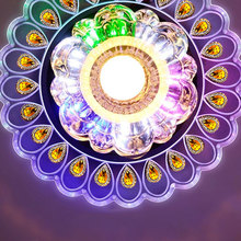 현대 크리스탈 LED 조명 조명 거실 공작 천장 샹들리에 램프 홈 장식 조명 다채로운 빛