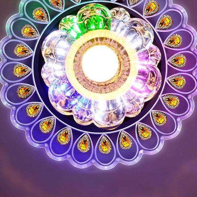 คริสตัลโมเดิร์นไฟLEDโคมไฟห้องนั่งเล่นนกยูงโคมไฟโคมระย้าโคมไฟสำหรับโคมไฟตกแต่งบ้านที่มีสีสัน