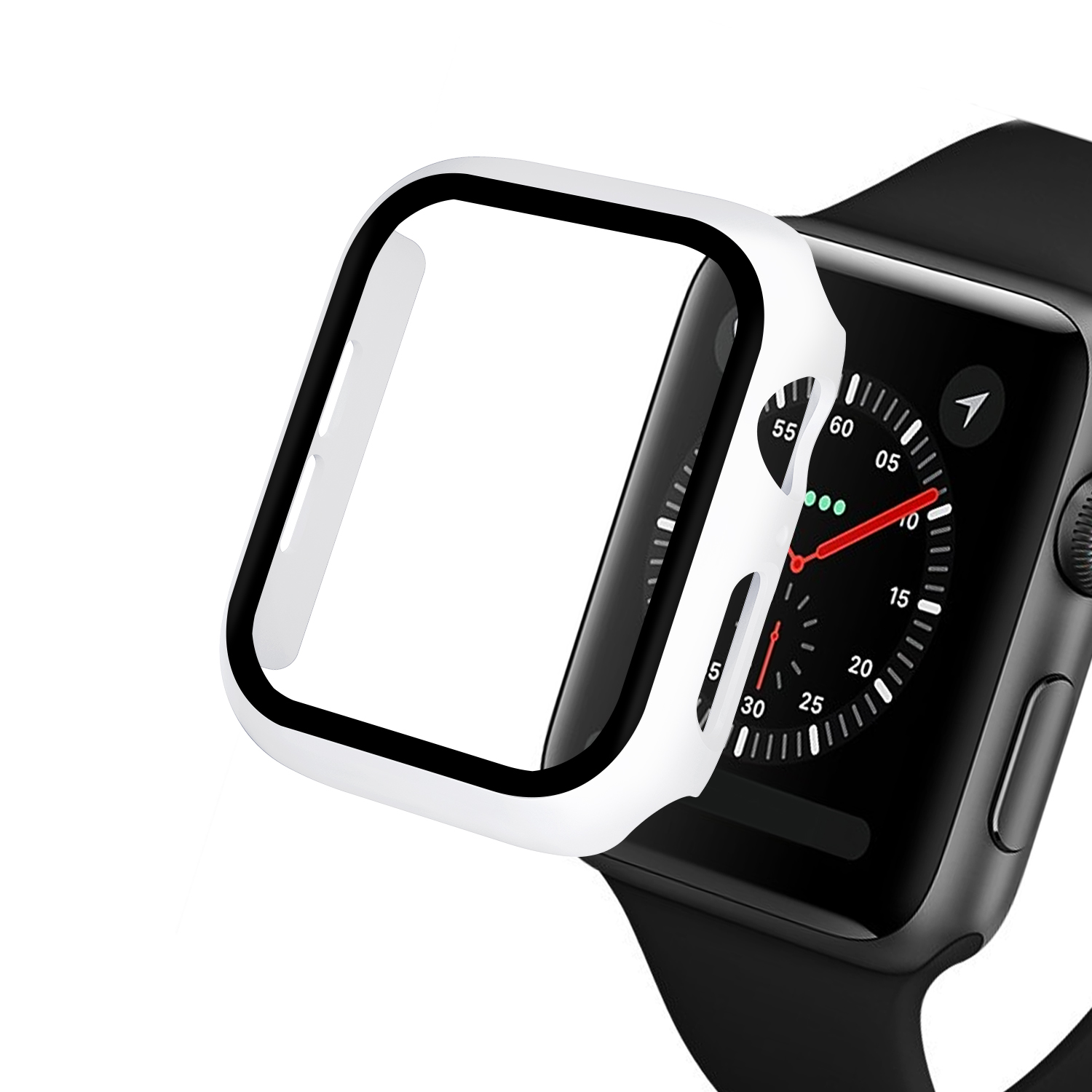 Watch Cover Case for Apple Watch 5/4 40MM/44MM PC Bumper with Glass Protector Film for iwatch Series 3/2 38 42MM  accessories 3