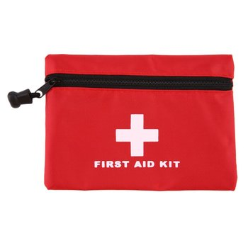 LESHP First Aid Kit Car First Aid Box Small Sports Box Emergency Survival Kit Household Mini Outdoor Travel Waterproof Red 40g image
