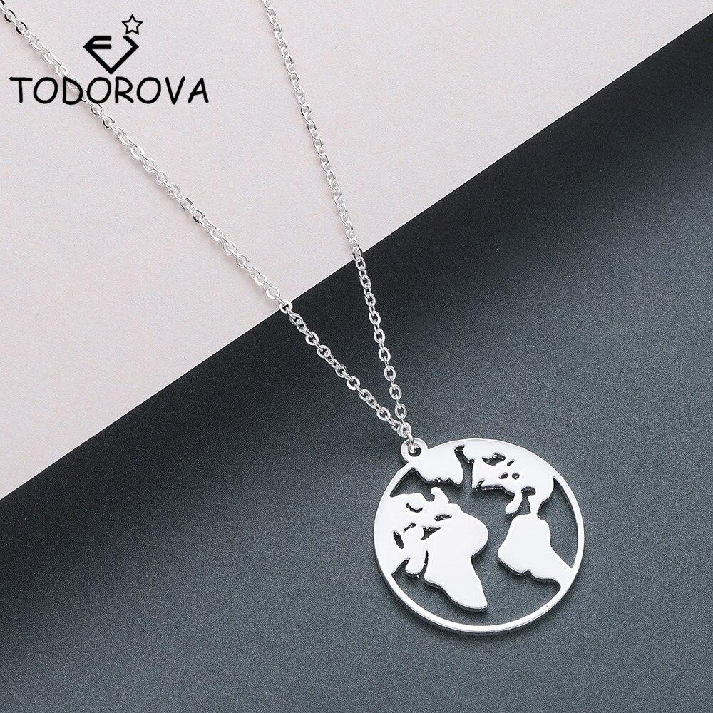 Цепочка Todorova с подвеской в виде глобуса, карты мира, подарок для лучших друзей, модное женское ожерелье для путешествий и поездок, Лучшие укр...