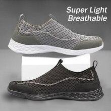 Yaz tüm örgü gündelik erkek ayakkabısı hafif nefes Sneakers ayakkabı erkekler açık su kaçak hızlı kuruyan loafer'lar ayakkabı artı boyutu 15