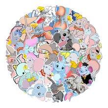 50 sztuk Disney Dumbo Cartoon naklejki naklejki wodoodporne na deskorolce Guita Laptop Book Decor Anime naklejki stacjonarne
