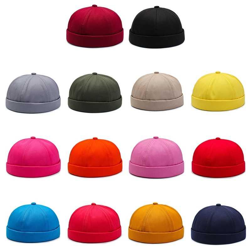 قبعة الرجال النساء الرجعية Brimless قابل للتعديل Skullcap الهيب هوب قبعة الجمجمة قبعة الرياضة في الهواء الطلق الدراجات النساء الرجال رياضية