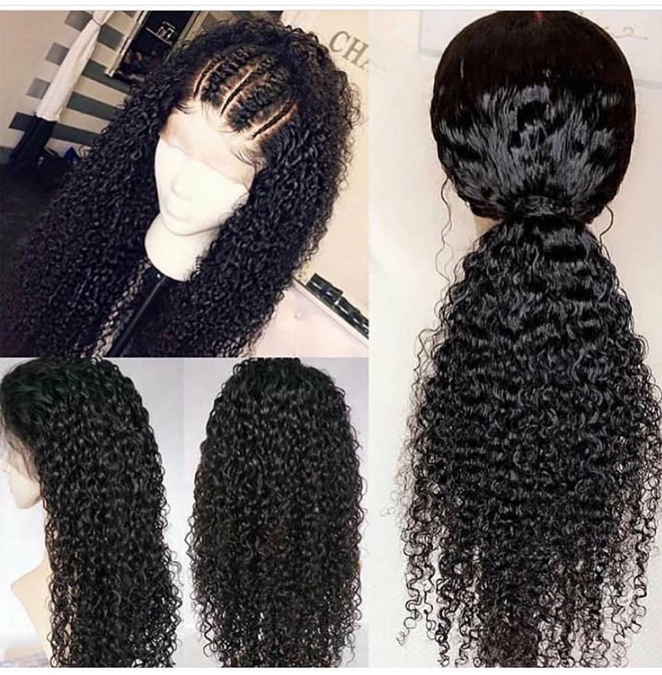 Kinky Curly Lace Frontal Human Hair Wig 8