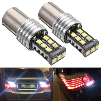 2pcs P21W 1156 BA15S LED Bulbs Canbus Car Reverse Bulb Signal Lamp For BMW E30 E36 E46 F30 Auto Tail Brake Light image